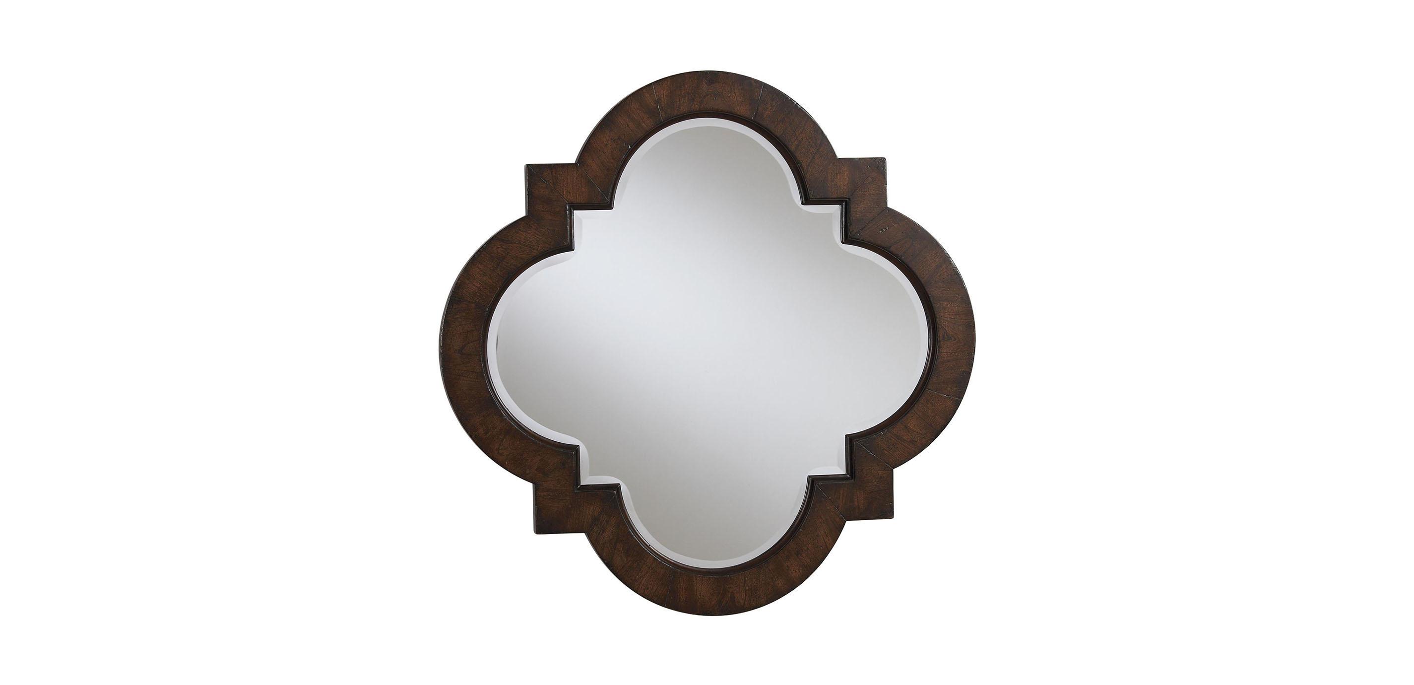 Dark quatrefoil mirror mirrors ethan allen for Mirror on mirror
