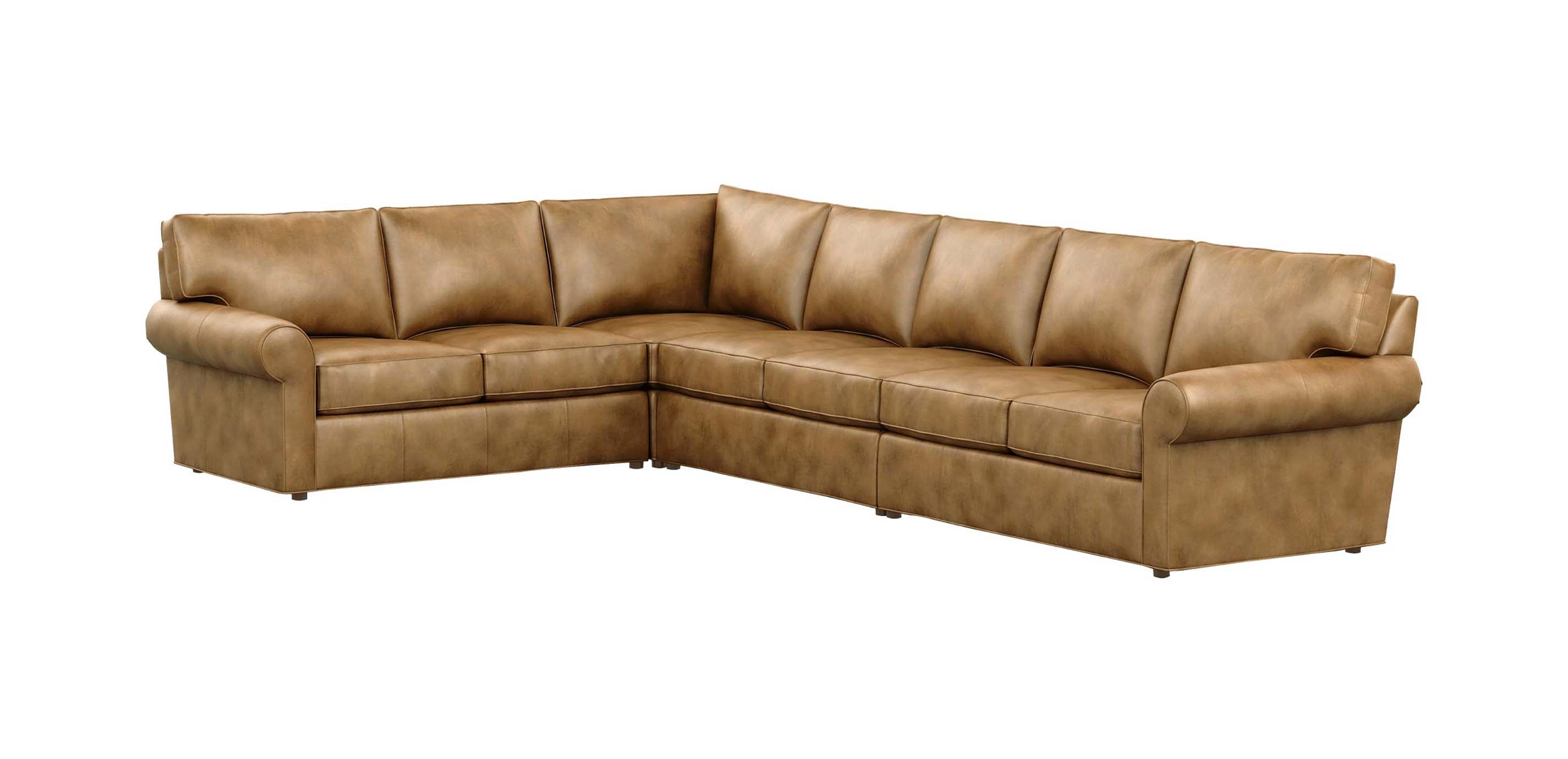 Retreat Leather Large Roll-Arm Sectional | Ethan Allen