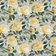 Audrina Marigold (18340) Audrina Charcoal Fabric By the Yard
