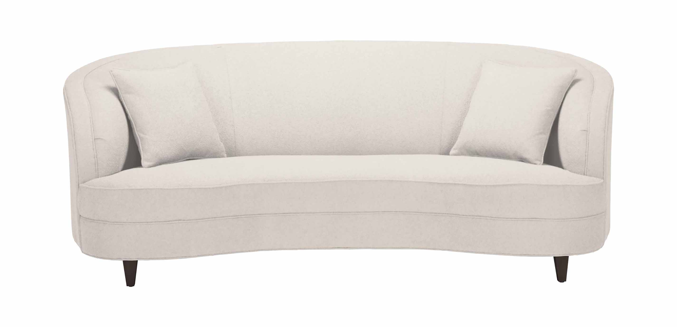 Channing Curved Sofa Apartment