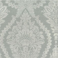Silver Light Gray Heritage Damask Wallpaper
