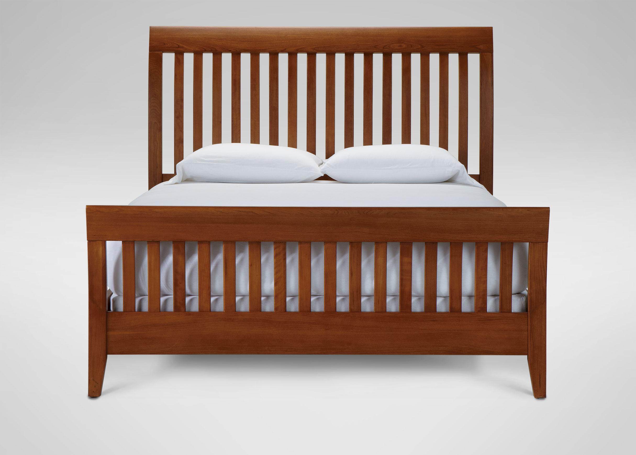 teagan sleigh bed beds ethan allen. Black Bedroom Furniture Sets. Home Design Ideas