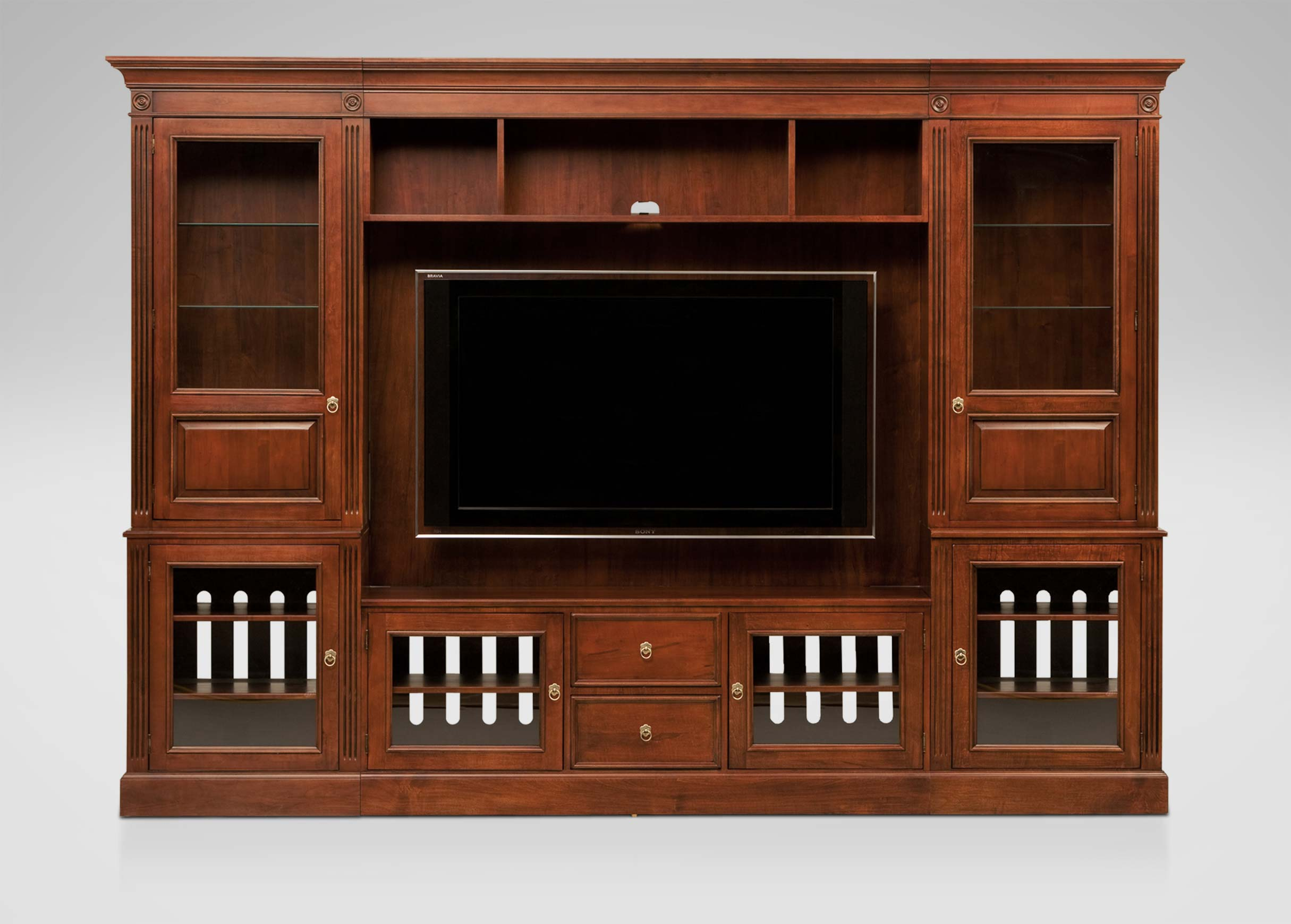 Robinson Glass-Door Media Center | Media Cabinets