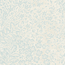 Soft Blue with White Bountiful Wallpaper