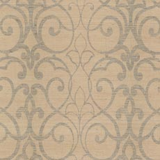 Rust Filigree Trellis Wallpaper