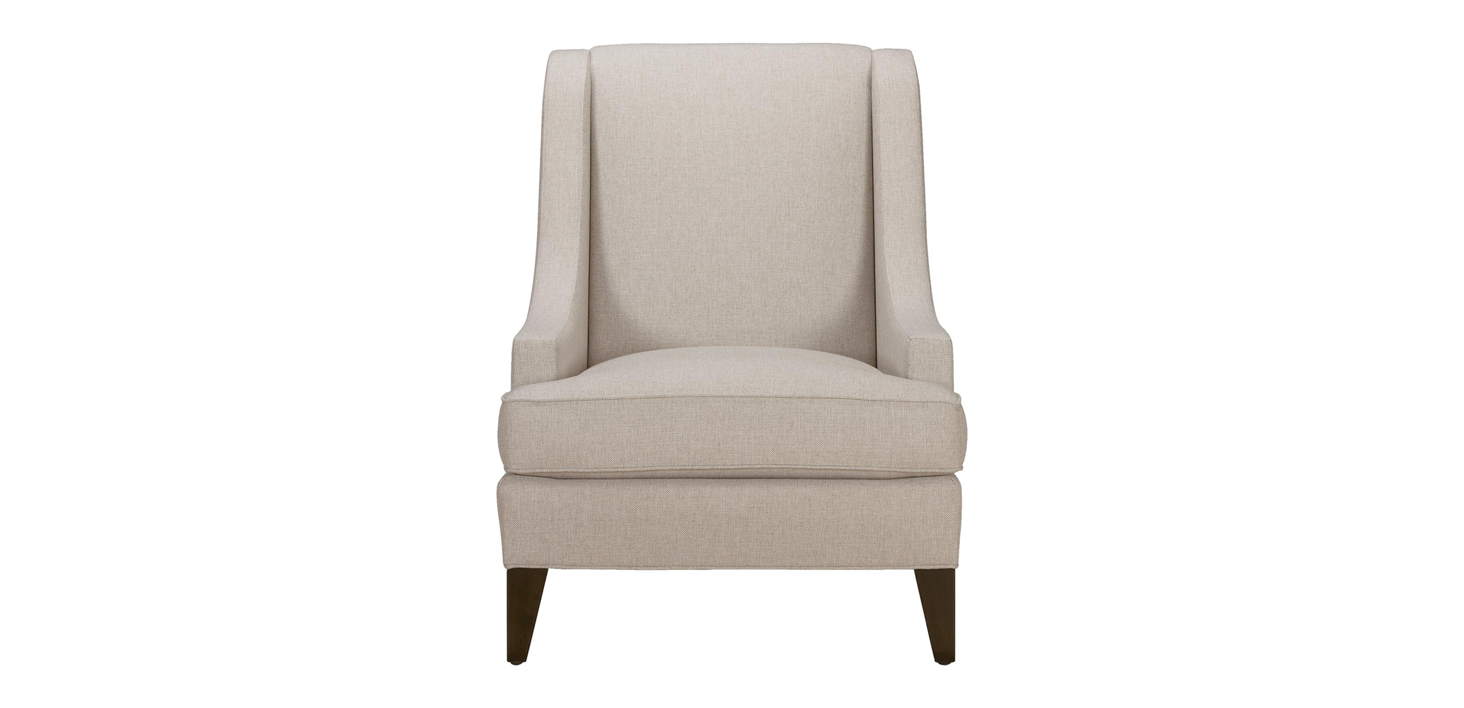 Awesome Images Emerson Chair, Quick Ship , Hailey Oatmeal (Q1033), Solid Texture ,  Large_gray