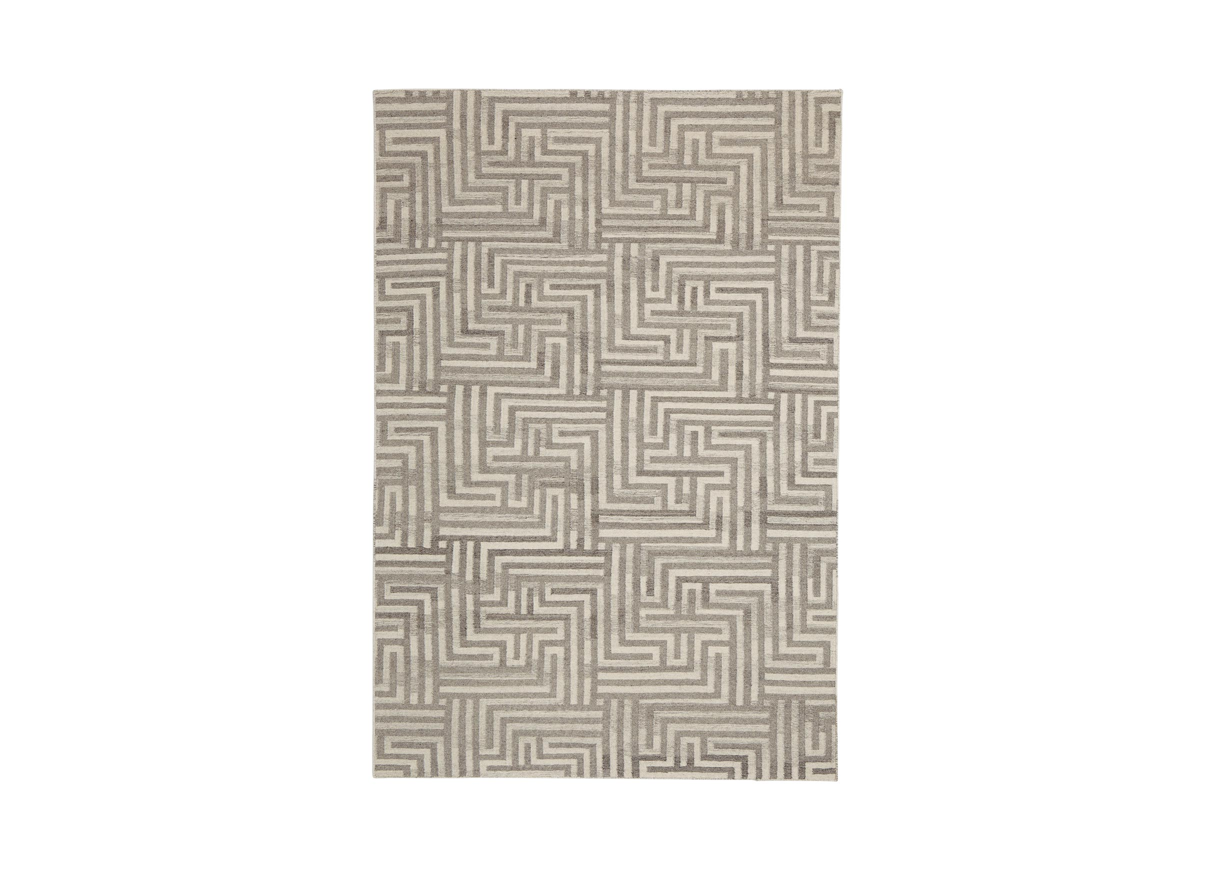 Images Labyrinth Rug Ivory Gray Large