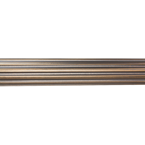 "2 1/4"" Fluted Wood Pole, Rose Gold ,  , large"