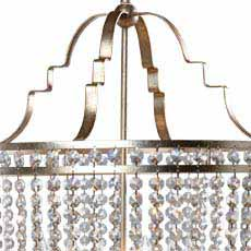 Antique Silver Large Alexa Chandelier