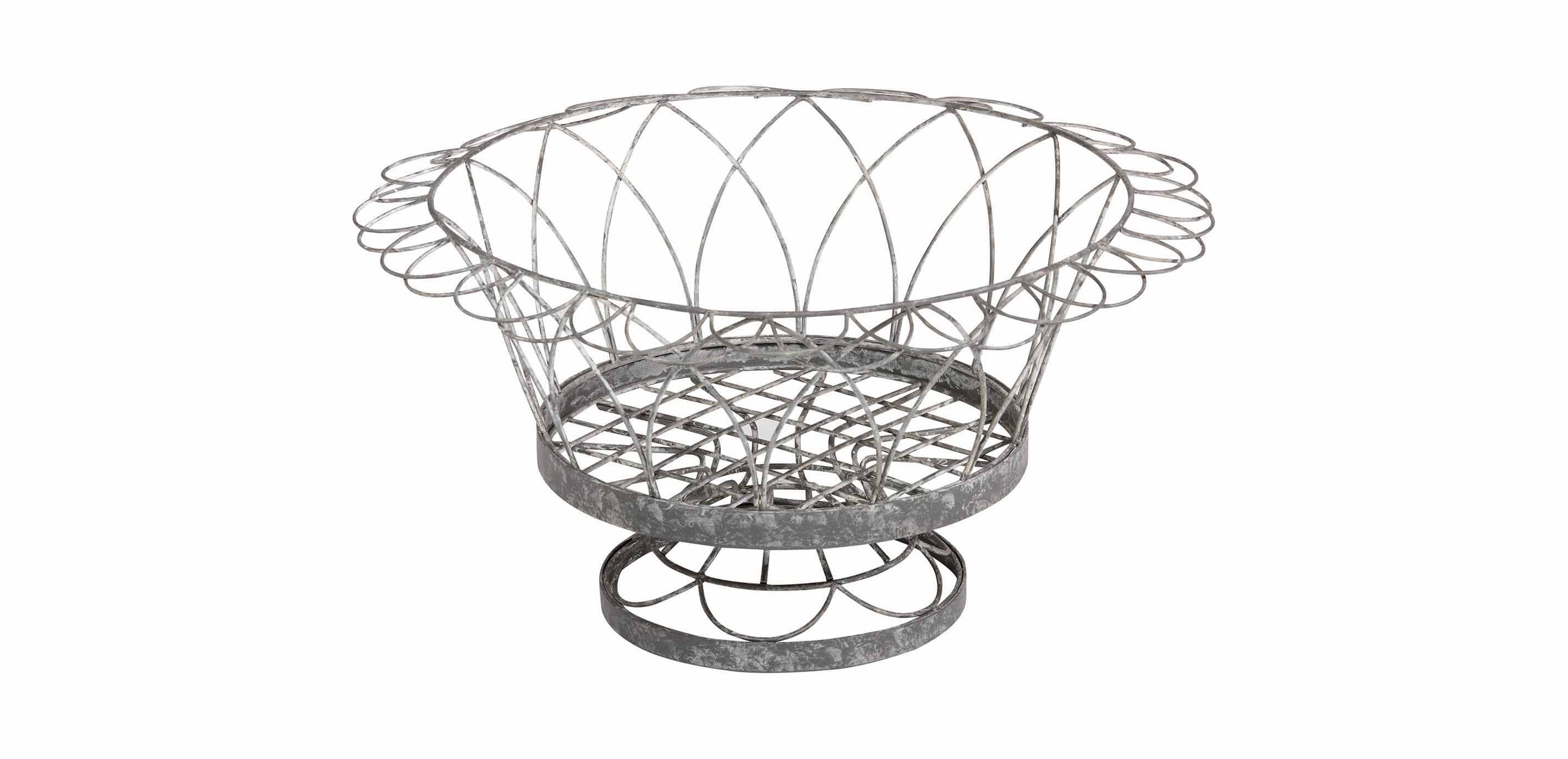 French Wire Round Planter | Planters and Urns | Ethan Allen