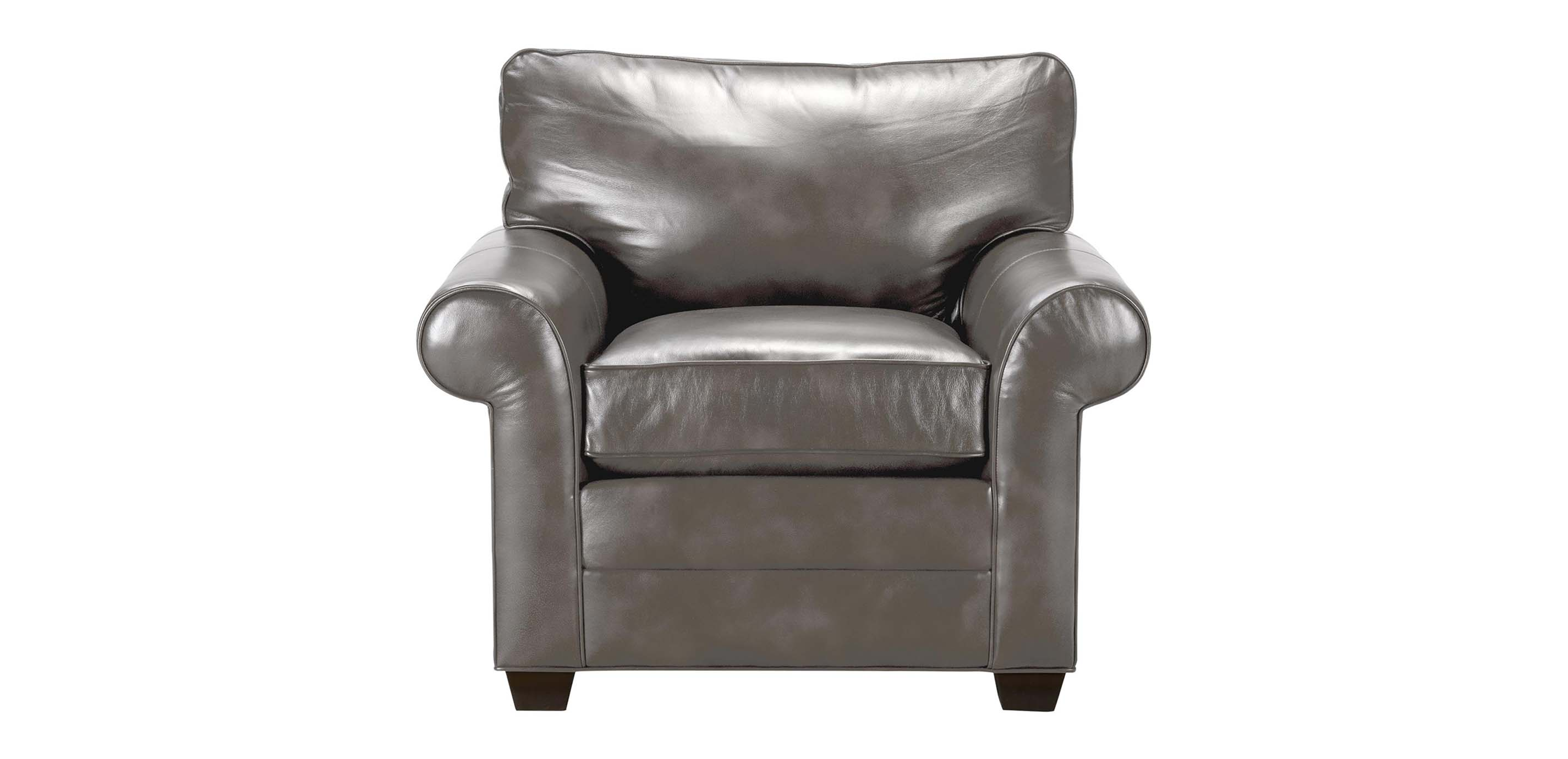 Bennett Roll Arm Leather Chair Quick Ship