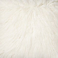 Ivory Faux Fur Pillow, Charcoal