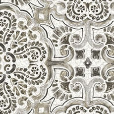 Grey Florentine Tile Wallpaper