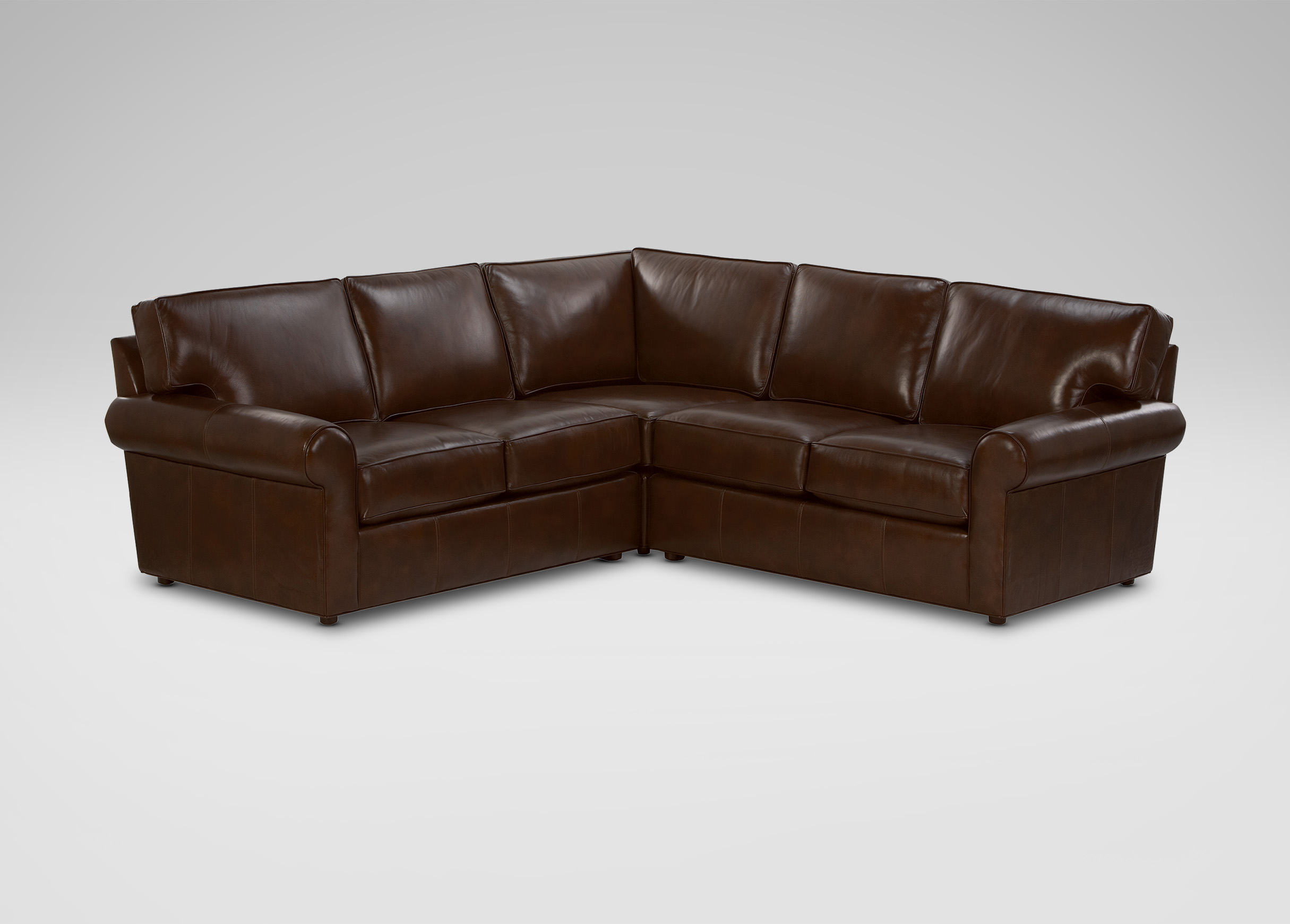 Retreat Roll Arm Leather Sectional