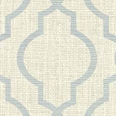 Grey Jute Quatrefoil Wallpaper