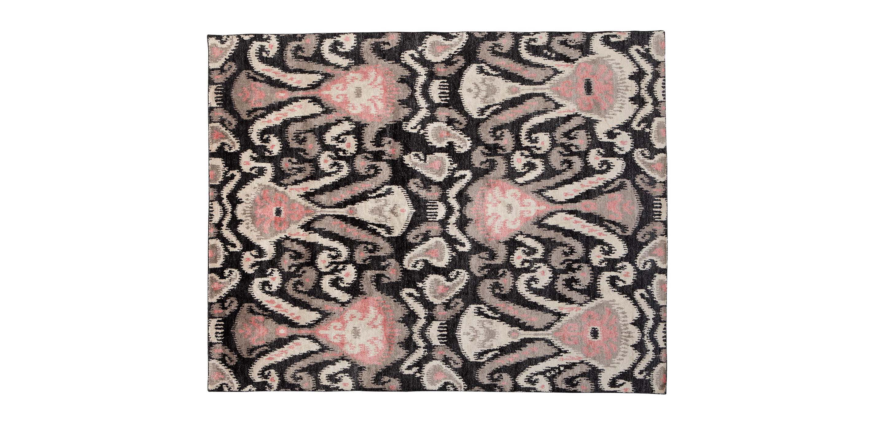 Ikat Rug Coral Pink Rugs Ethan Allen