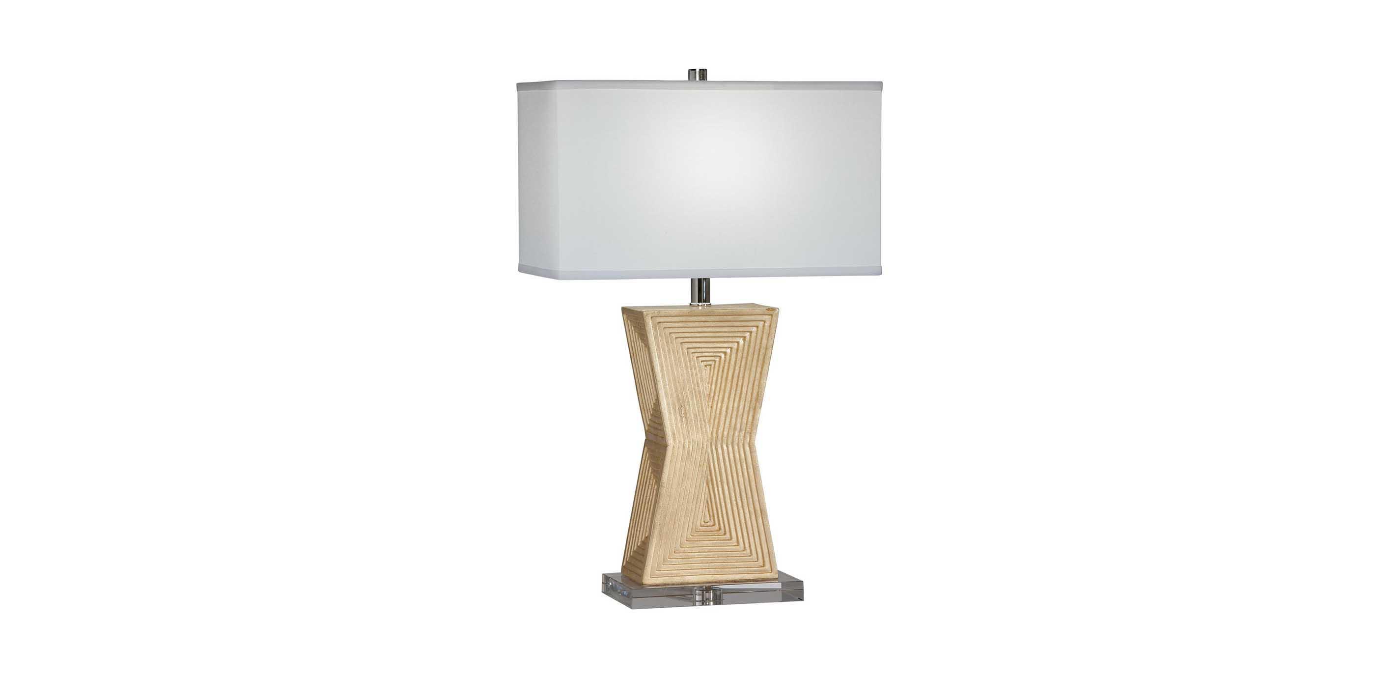 Images Saxon Geometric Table Lamp , , Large_gray