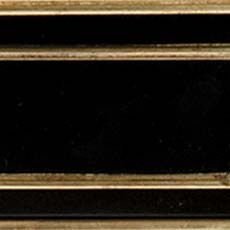Piano / Gold Metallic Leaf (564): Black paint with gold leaf accents, high sheen. Hempstead Sofa Table