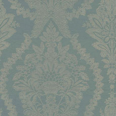 Blue Heritage Damask Wallpaper