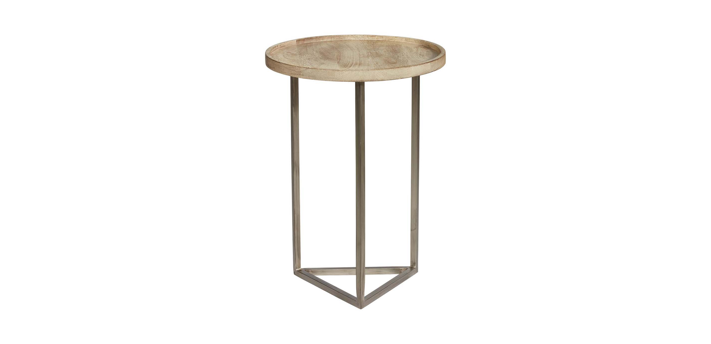 - Bolton Round Mango Wood Accent Table Ethan Allen Accent Tables