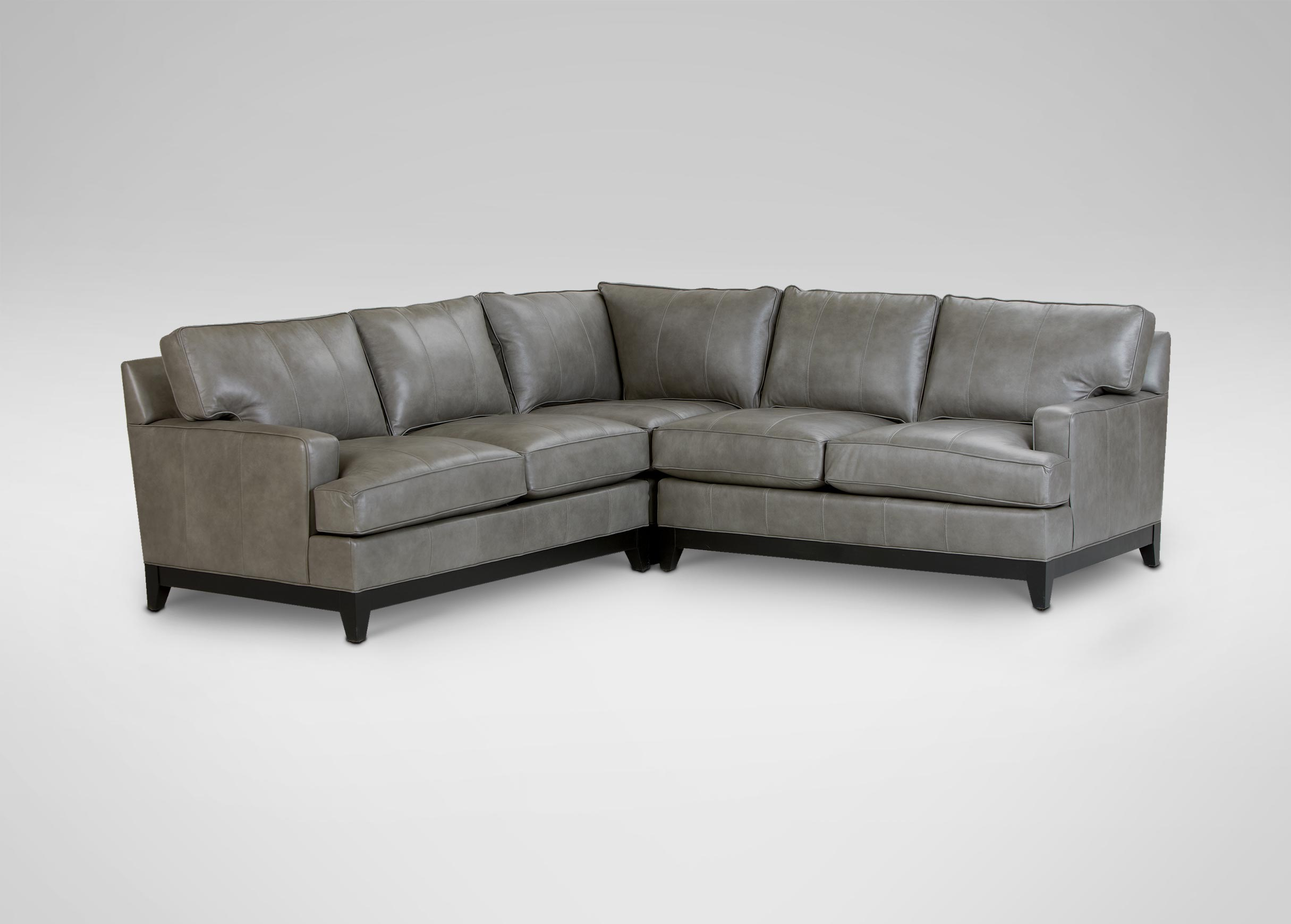Images Arcata Leather Sectional   large_gray : ethan allen leather sectional - Sectionals, Sofas & Couches