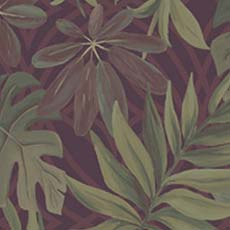 Maroon Nocturnum Leaf Wallpaper