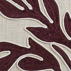 Beet Embroidered Linen Pillow