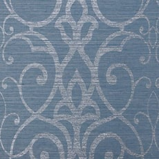 Blue Filigree Trellis Wallpaper