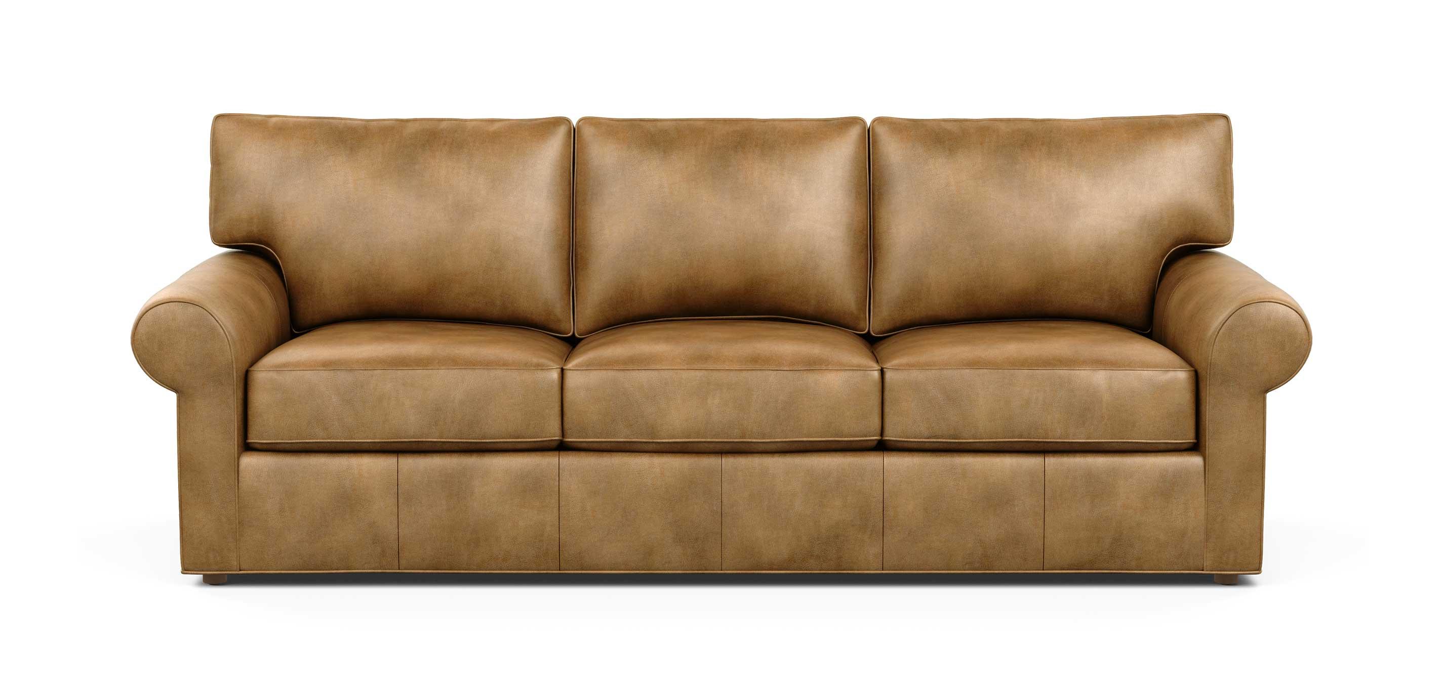 Retreat Roll Arm Leather Sofa Sofas Loveseats Ethan Allen