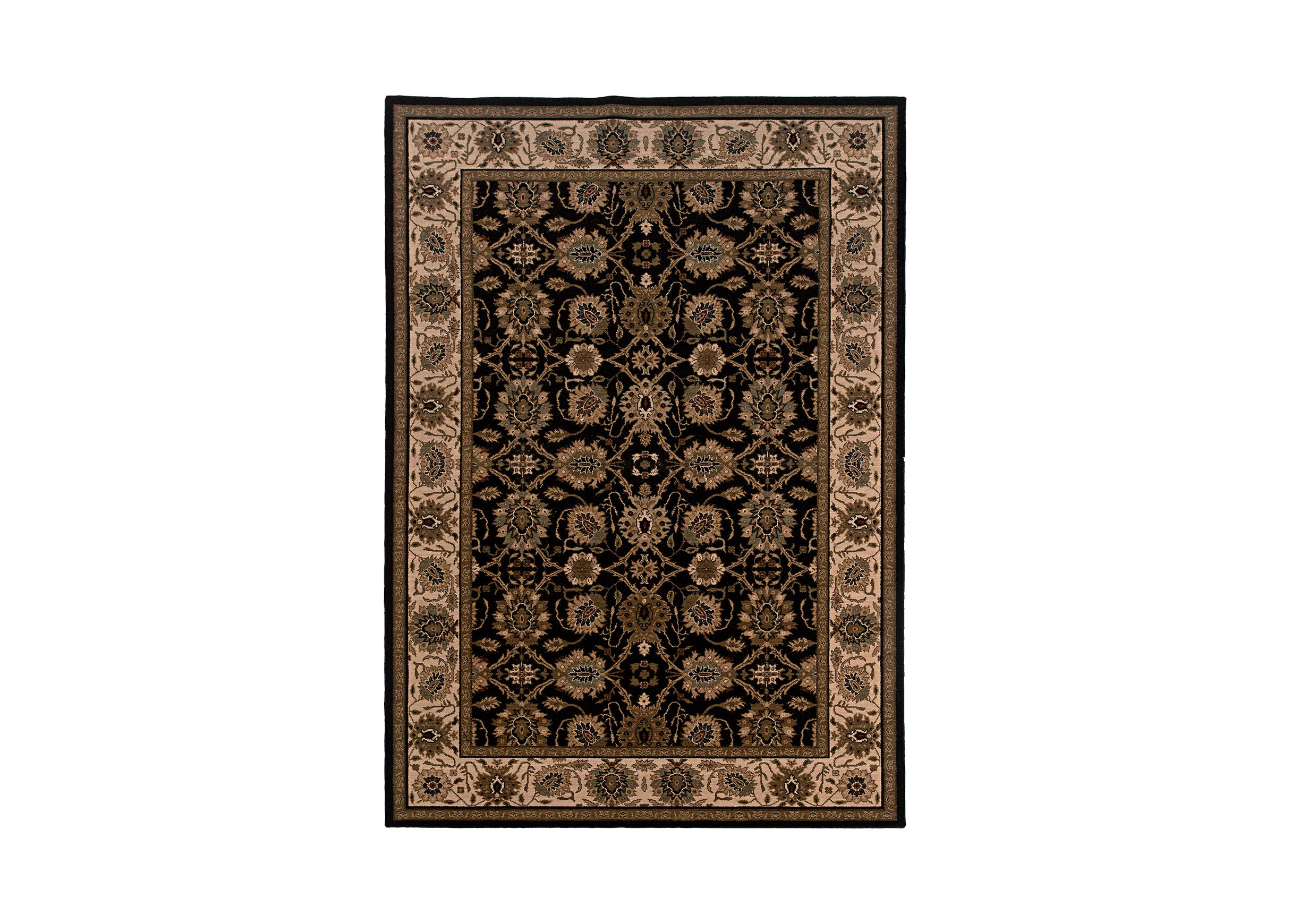 Sultanabad Area Rug Black Ivory Traditional Patterned Rugs