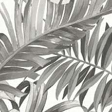 Black Alfresco Palm Leaf Wallpaper