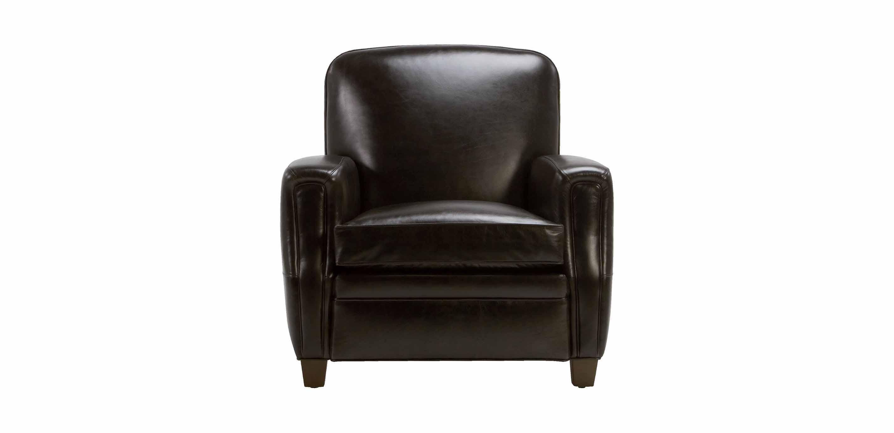 Dean Leather Chair Anson Black Chairs Chaises Ethan Allen