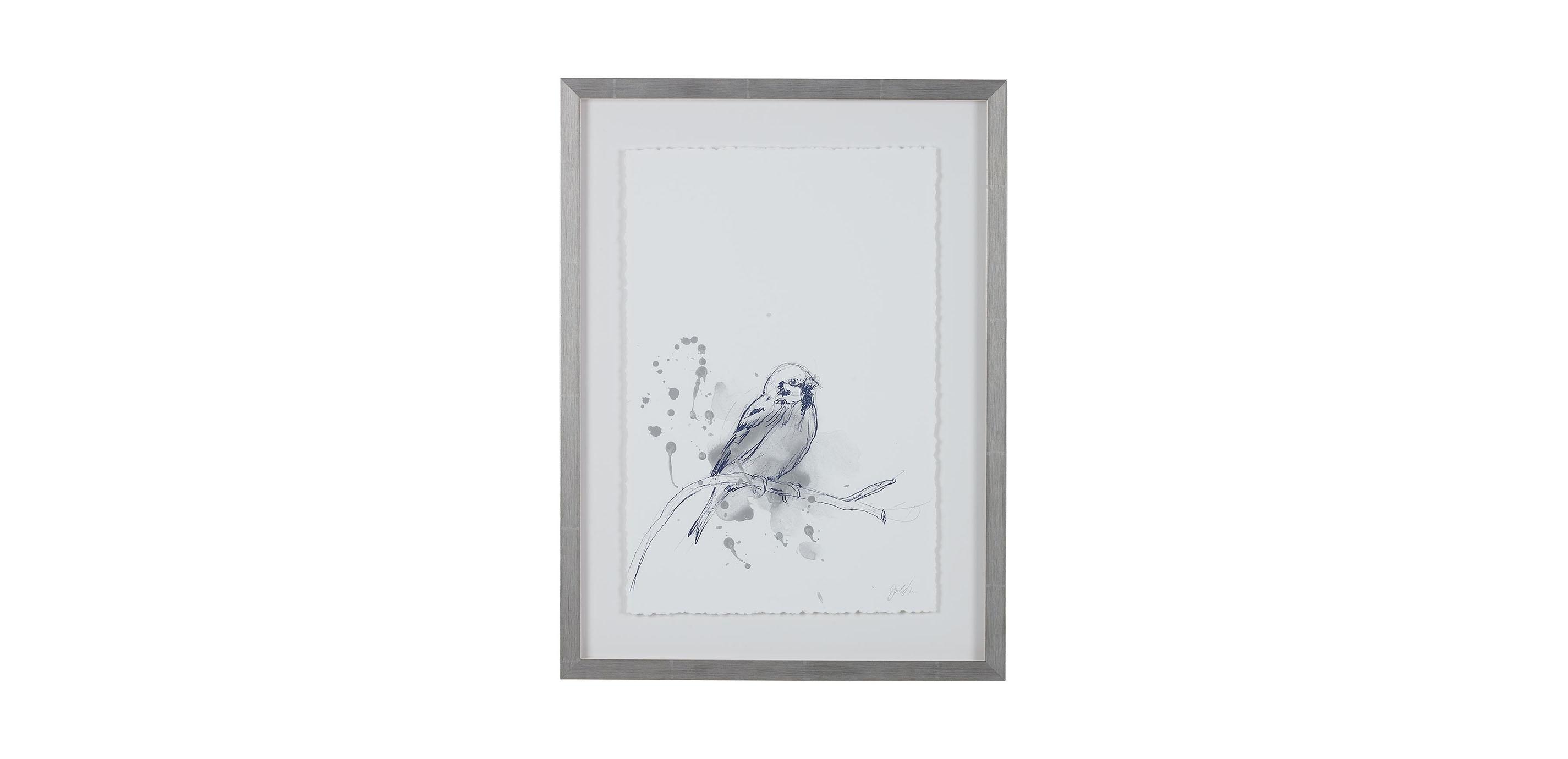 Gestural Bird Study Bird Prints Bird Wall Art Ethan