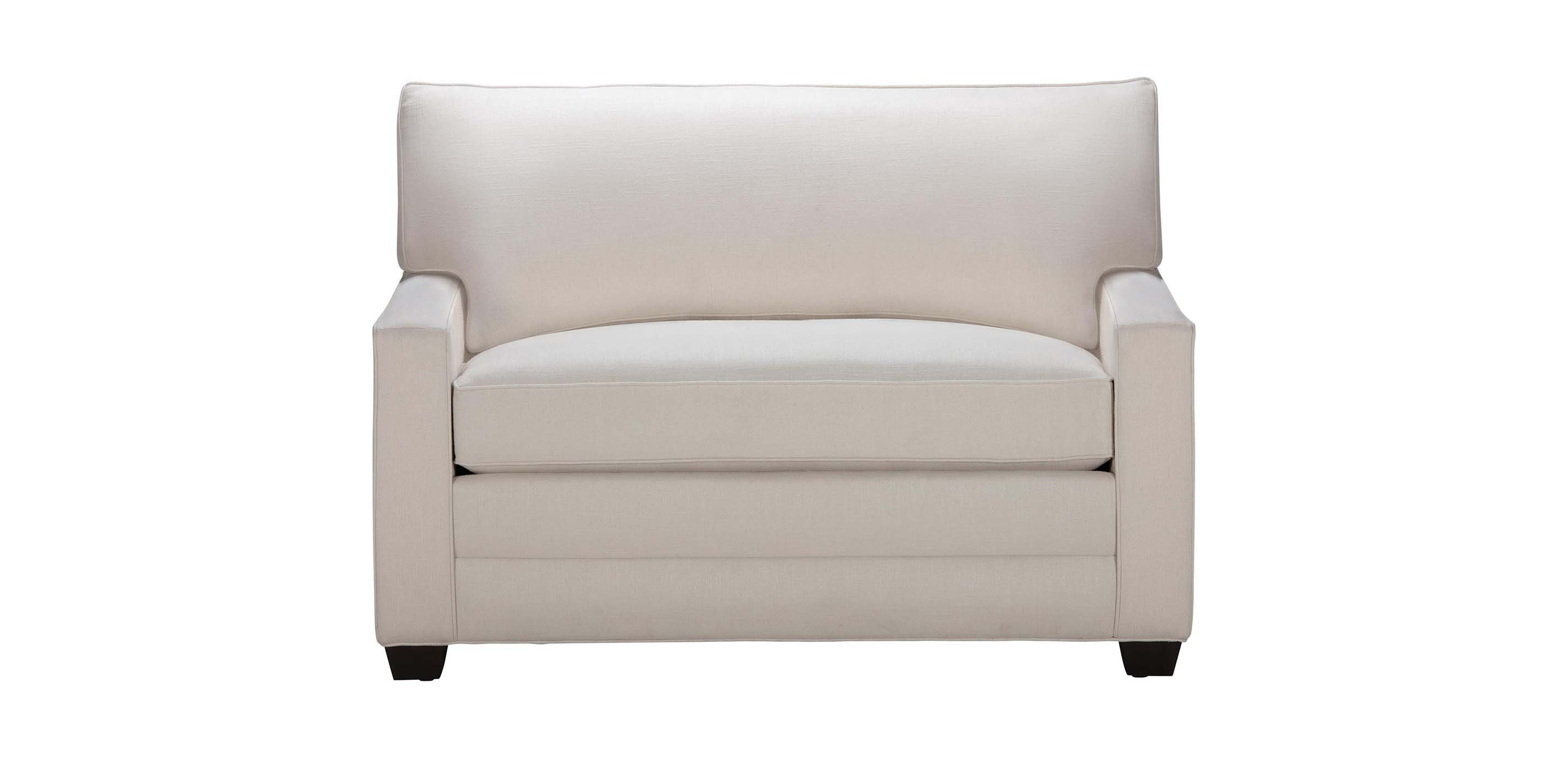 Picture of: Bennett Track Arm Chair And A Half Twin Sleeper Ethan Allen