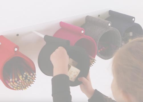 Small Fantastic Felt Holders, Set of Five Product Video Thumbnail