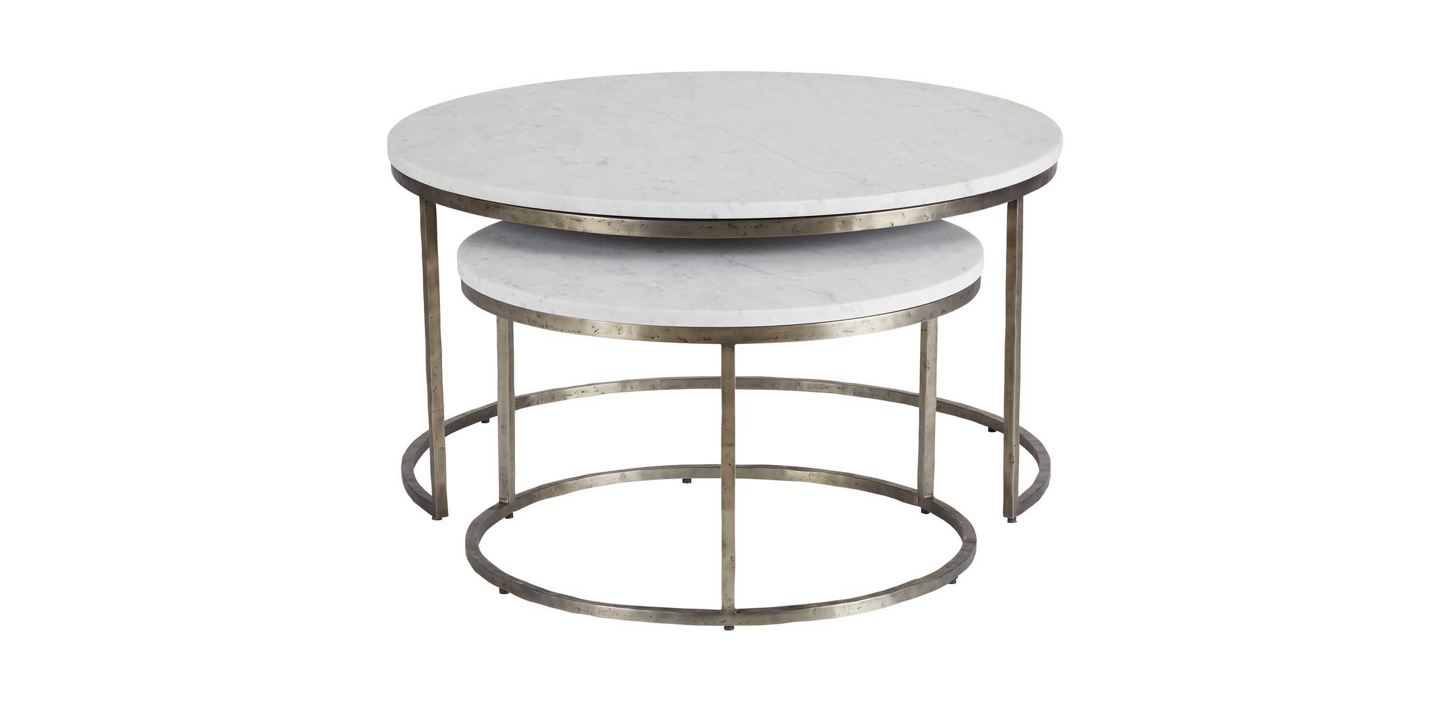 - Bayless Marble-Top Coffee Table Nesting Table Ethan Allen