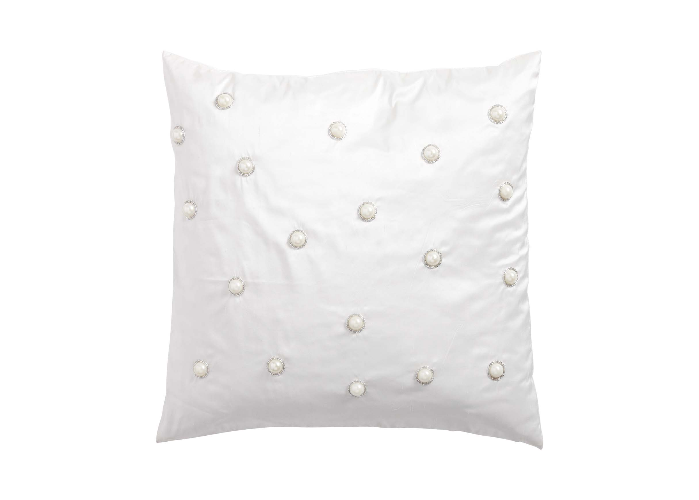 Decorative Pillow With Pearls : Pearl Embellished Pillow Pillows
