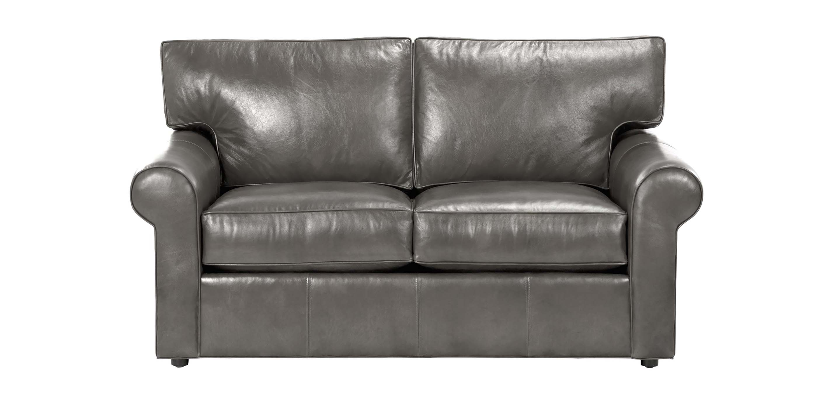 Retreat Roll Arm Leather Sofa Quick Ship Sofas
