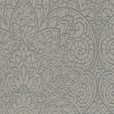 Gray with Metallic Gray Paradise Wallpaper