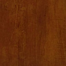 Caraway (277): Rich warm brown stain with dark glaze, moderately distressed, softly worn corners. Jason Buffet with Glass Doors