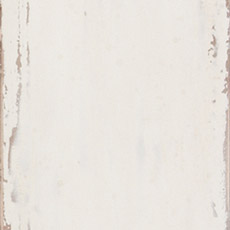Percy (623): White paint, antiqued, exposed edges with areas of light brown and gray rub through. Leora Tall Chest