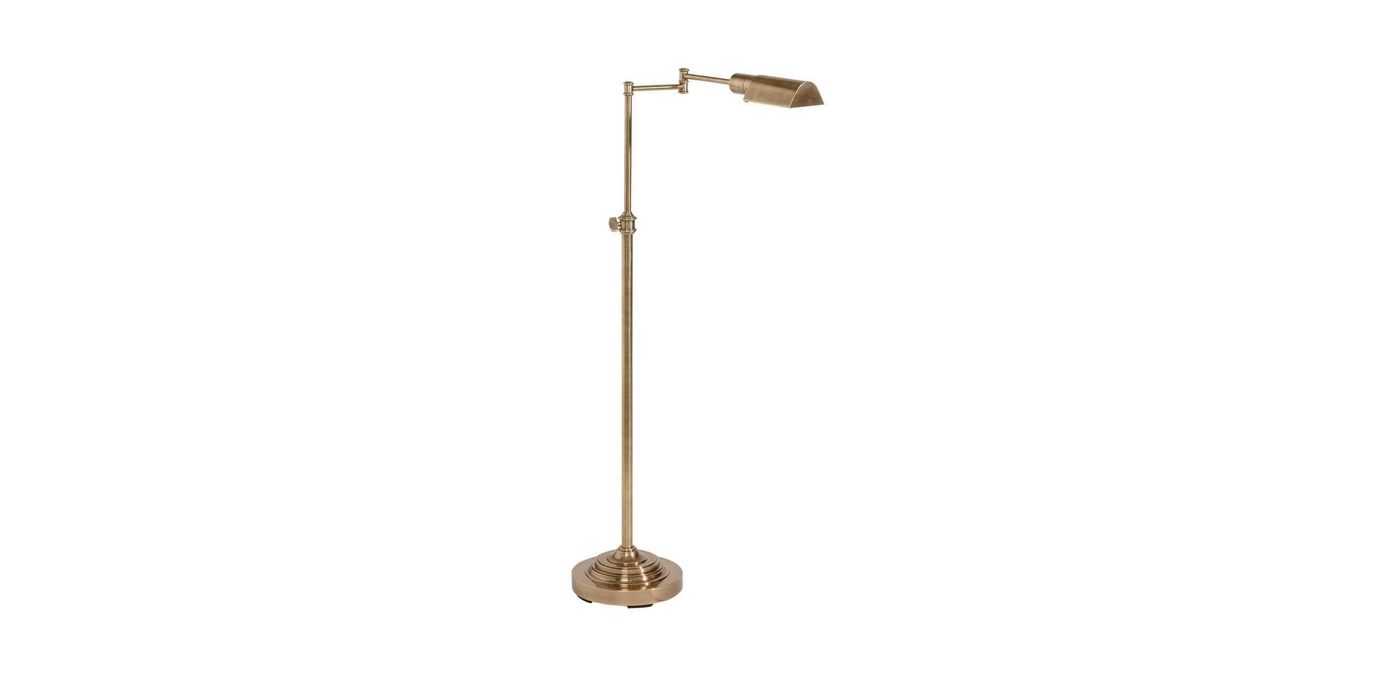 Brass pharmacy floor lamp floor lamps ethan allen for Homebase chandelier floor lamp