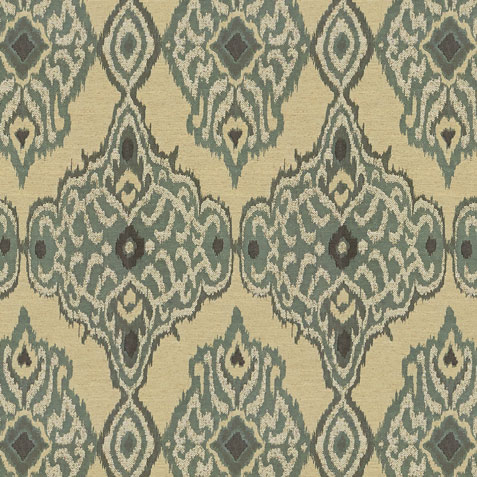 Ajani Mint Fabric by the Yard ,  , large