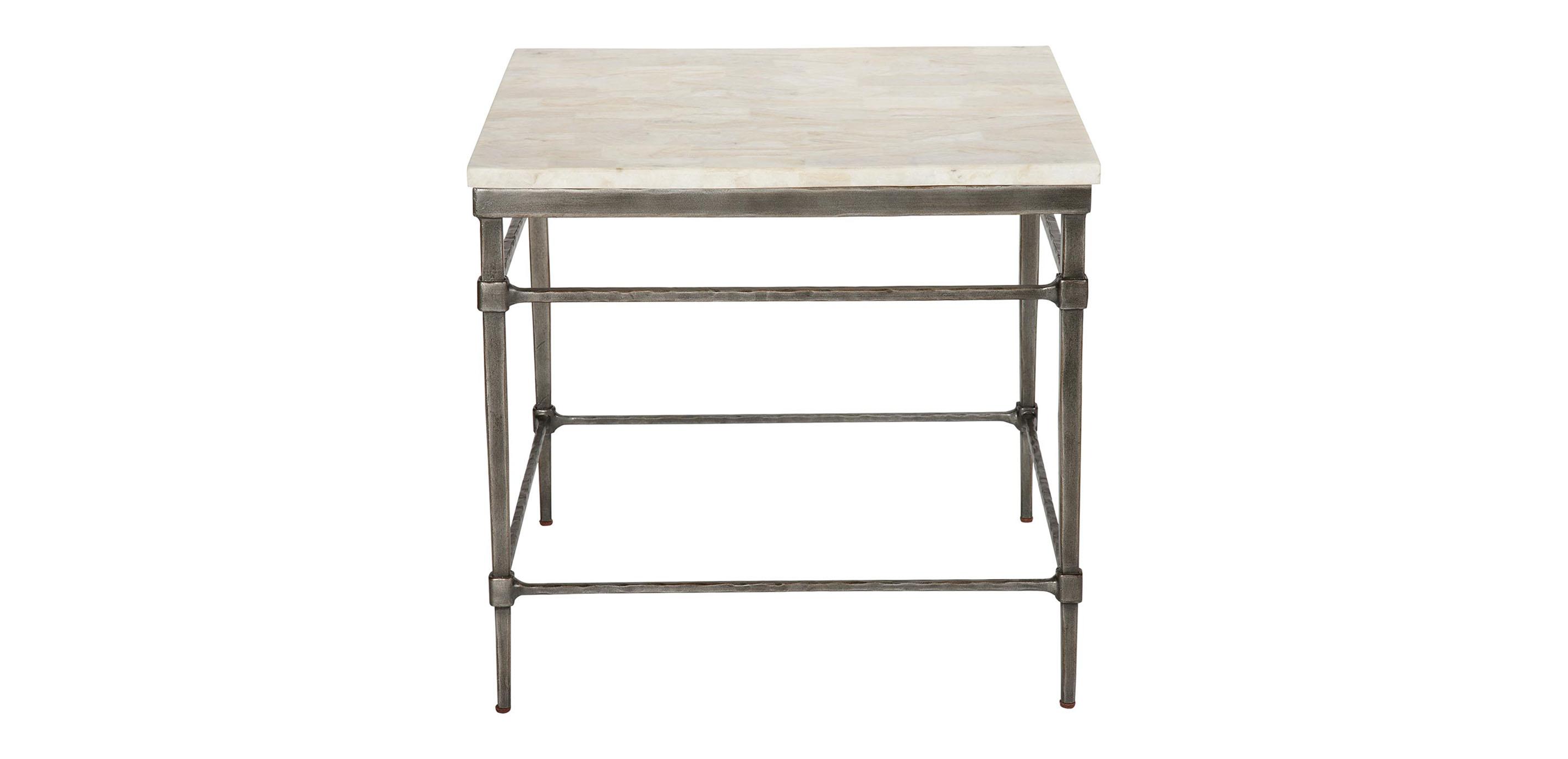 Vida Stone Top End Table