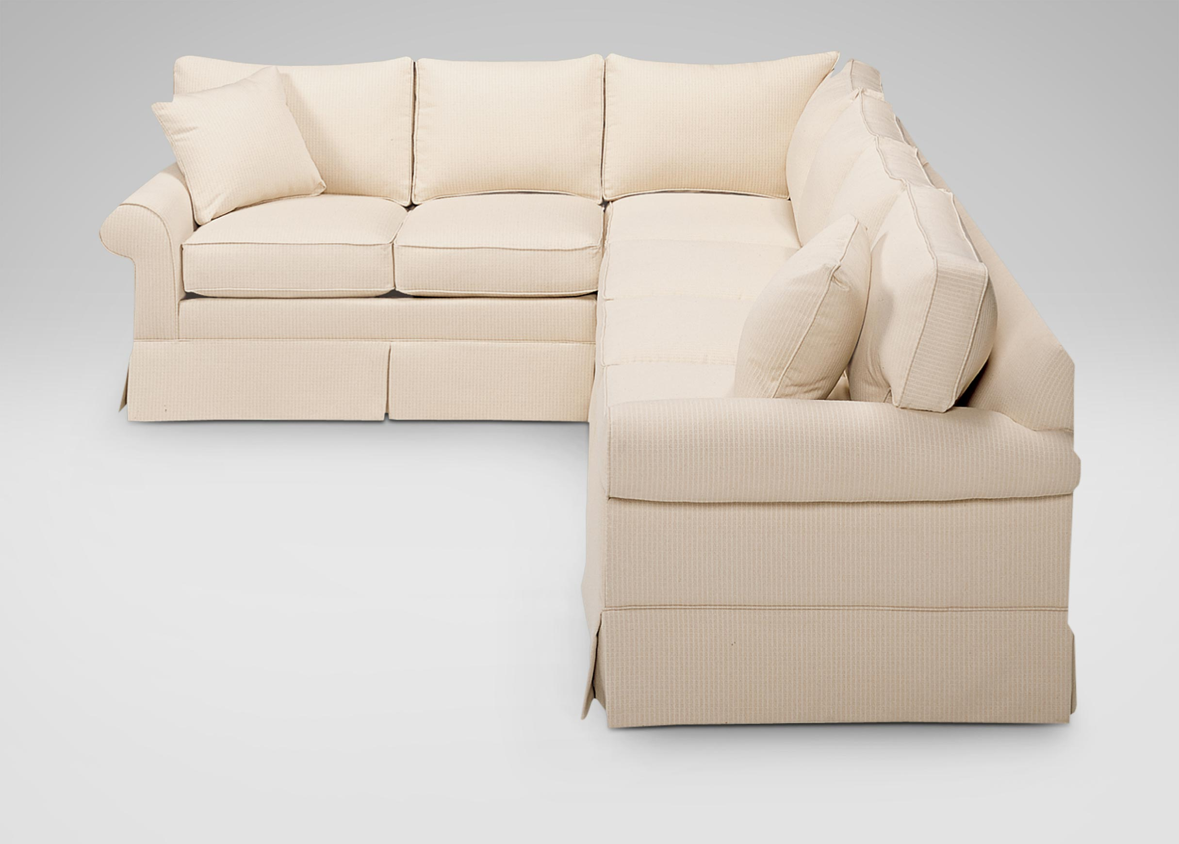 Bennett Roll Arm Skirted Sectional