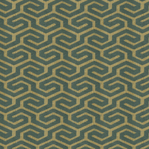 Declan Teal Fabric by the Yard ,  , large