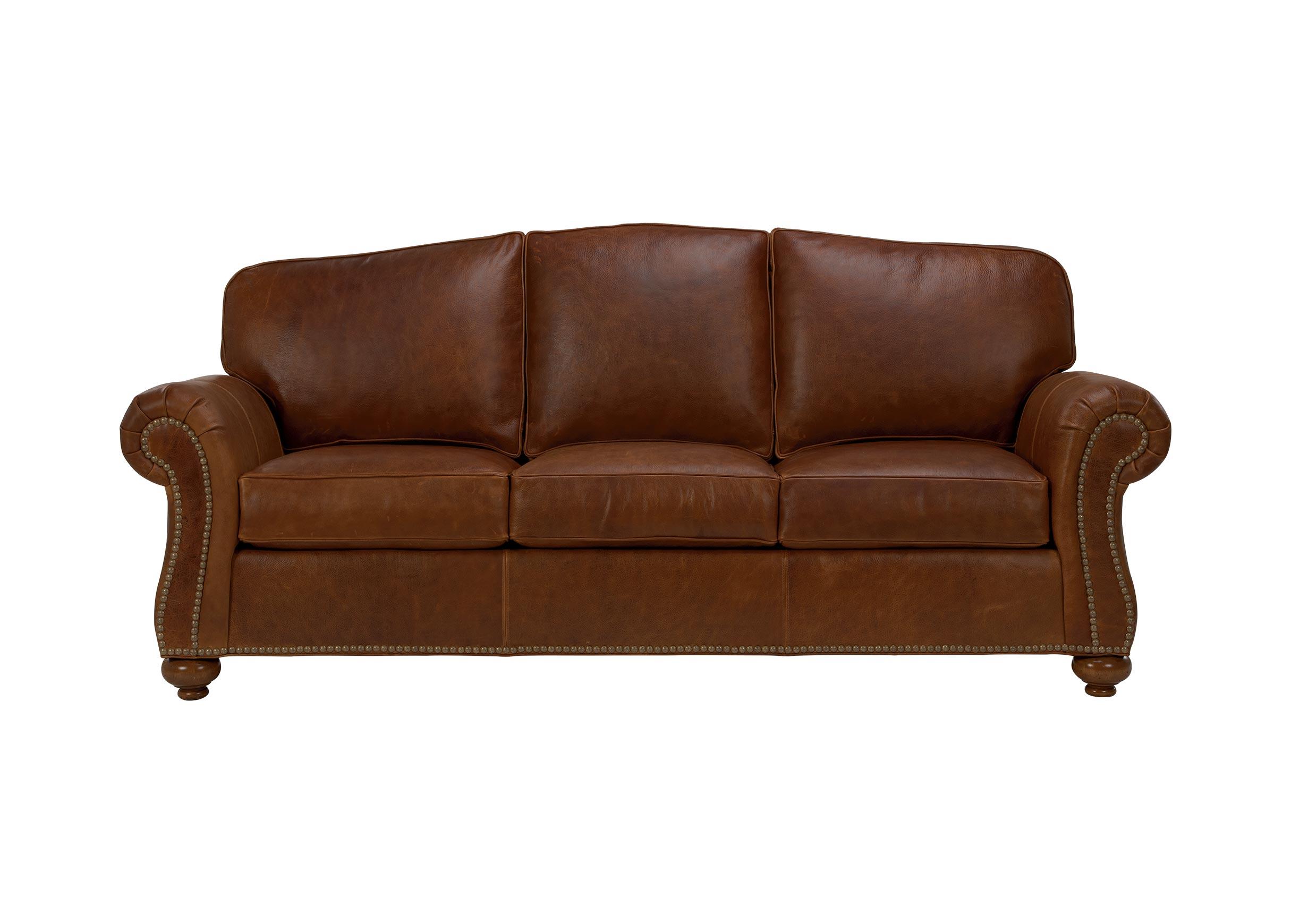 Whitney leather sofa sofas loveseats for Sofa en l liquidation
