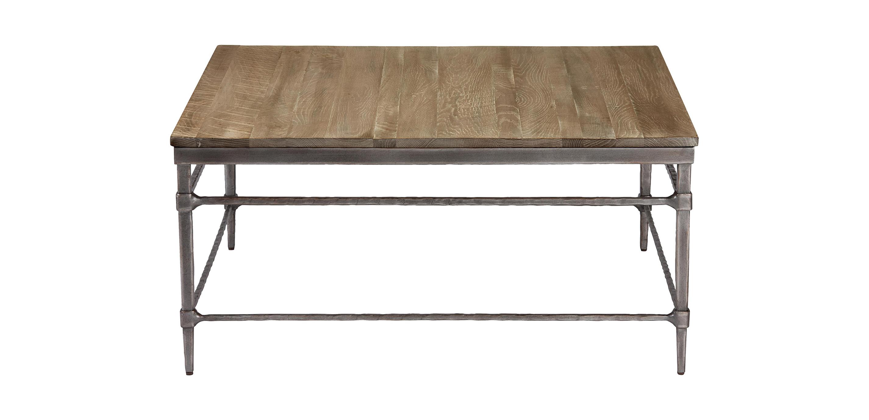 Vida Square WoodTop Coffee Table Coffee Tables Ethan Allen - Silverado rectangular coffee table