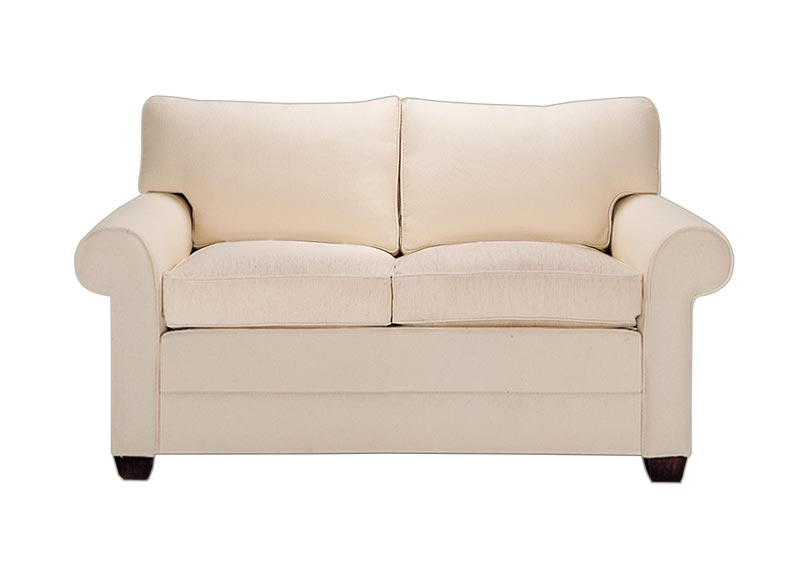 Bennett roll arm loveseat ethan allen Loveseats with console