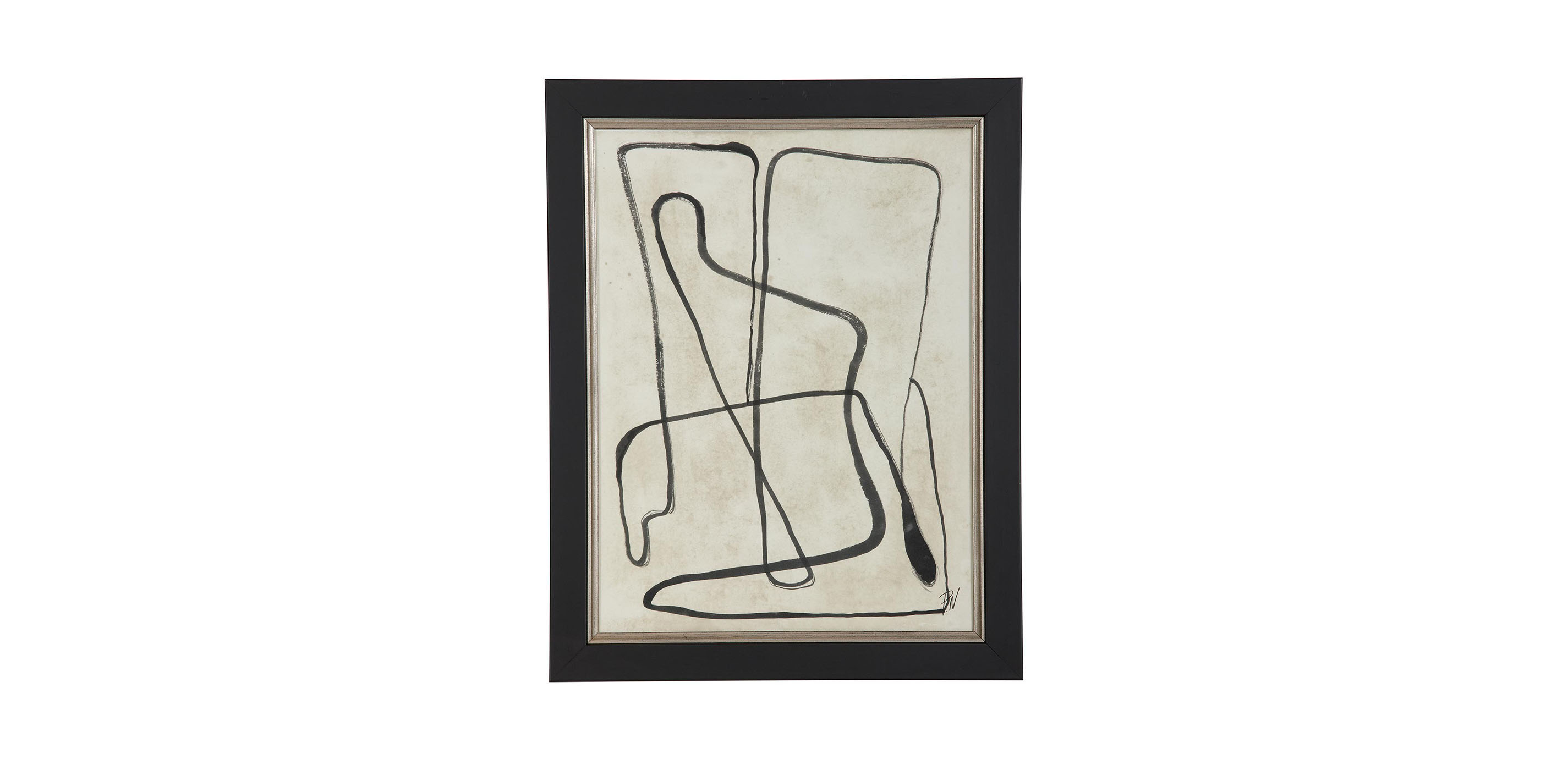 Black And White Graphic Iv Abstract Ethan Allen